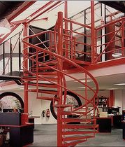spiral staircase for commercial buildings (metal frame and steps)  Crescent Stairs