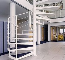spiral staircase for commercial buildings (metal frame and steps) BISHOPS Crescent Stairs