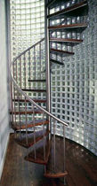 spiral staircase for commercial buildings (metal frame and wooden steps) 60 S STAIRWAYS inc