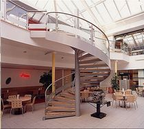 spiral staircase for commercial buildings (metal frame and wooden steps) MILTON KEYNES Crescent Stairs