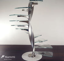 spiral staircase (metal frame and glass steps)  Marretti