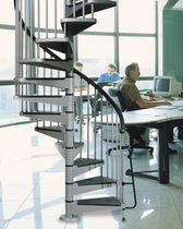 spiral staircase (metal frame and steps) METAL SYSTEMA