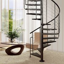 spiral staircase (metal frame and wooden steps) ATRIUM SYSTEM  HEAVY METAL Atrium
