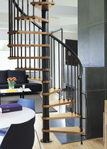 spiral staircase (metal frame and wooden steps) COMBI SYSTEMA