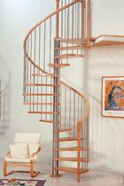 spiral staircase (metal frame and wooden steps)  Interbau