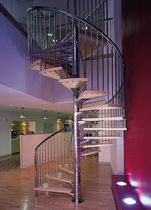 spiral staircase (metal frame and wooden steps) THEOBALD'S ROAD DS9 469 SPIRAL Stairs