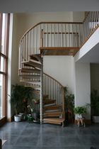 spiral staircase (metal frame and wooden steps) S/36/1 Cast Spiral Stairs
