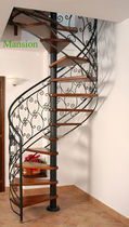 spiral staircase (metal frame and wooden steps) M3 SERIES: M31 Hangzhou Mansion Material Co., Ltd.