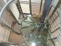 spiral staircase (stainless steel frame and glass steps) ATRIUM SYSTEM 2000 Atrium