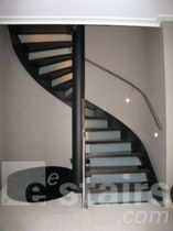 spiral staircase (steel frame and wooden steps) TSE-200 EeStairs America