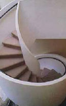 spiral staircase with a lateral stringer  STAIRWAYS inc