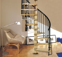spiral staircase (wooden frame and steps) TIMBER SYSTEMA