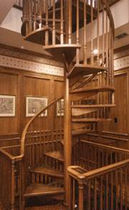 spiral staircase (wooden frame and steps) 72 AW STAIRWAYS inc