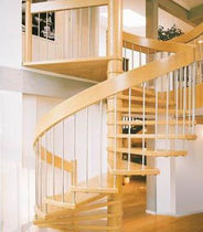spiral staircase (wooden frame and steps) M5 SERIES: M52 Hangzhou Mansion Material Co., Ltd.