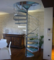 spiral staircase (metal frame and glass steps) DISKO essegi scale
