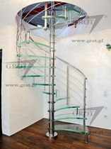 spiral staircase (metal frame and glass steps) AMELIA GROT