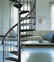 spiral staircase (metal frame and steps) YOUNG: AF26 FONTANOT - ALBINI & FONTANOT