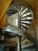 spiral staircase (metal frame and steps)  Canal Engineering Ltd