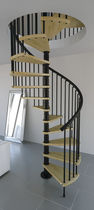spiral staircase (metal frame and wooden steps) GAMIA WOOD MisterSTEP
