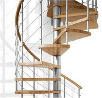 spiral staircase (metal frame and wooden steps) CONTEMPORARY: GENIUS 010 FONTANOT - ALBINI & FONTANOT