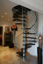 spiral staircase (metal frame and wooden steps) MALDIVE essegi scale