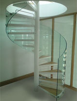 spiral staircase (metal frame and wooden steps) BEDFORDSHIRE Flight Design