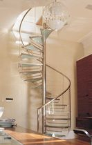 spiral staircase (stainless steel frame and glass steps) QUEEN'S GATE GARDENS SS 510 SPIRAL Stairs
