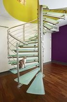 spiral staircase (stainless steel frame and glass steps) ROMEO®GLASS Novum