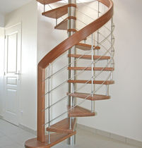spiral staircase (stainless steel frame and wood steps)  TREPPENMEISTER
