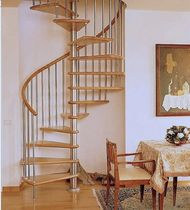 spiral staircase (stainless steel frame and wood steps) ALADIN INOX Scale nilur
