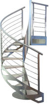 spiral staircase (stainless steel frame and wood steps) ORTENSIA New Living srl
