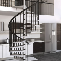 spiral staircase (steel frame and steps) GAMIA METAL MisterSTEP