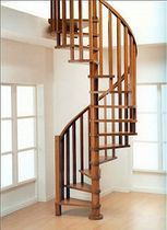 spiral staircase (wooden frame and steps) CLASSIC novalinea spa