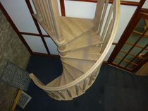 spiral staircase (wooden frame and steps) W/104/1 Cast Spiral Stairs