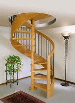 spiral staircase (wooden frame and steps) AMETISTA Linea Scale