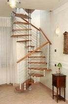 square spiral staircase (metal frame and wooden steps) ECO CLS Scale nilur