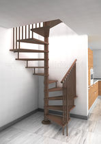 square spiral staircase (wooden frame and steps) GOLF R12 IDEALKIT