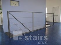 stainless steel cable railing FLATRHYTHM 2-02 EeStairs America