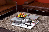 stainless steel contemporary coffee table SYSTEM4&reg; MODULAR FURNITURE Infinita Corporation