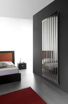 stainless steel design hot water radiator VEGA VERTICALE EMMESTEEL s.r.l.
