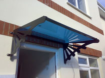 stainless steel entrance canopy (glass cover)  New Forest Metal Work