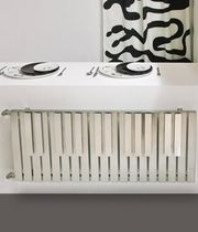 stainless steel horizontal hot-water radiator PIANO Carisa Design Radiators