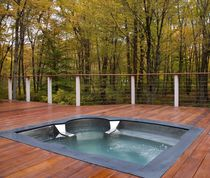 stainless steel hot-tub with cool down seat   Diamond Spas