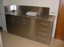 stainless steel kitchen sink cabinet  pure inox