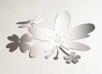 stainless steel wall sticker HIBISCUS  Artecnica