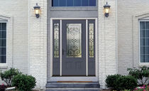 steel entrance door with window pane PROFILES™ THERMA-TRU DOORS