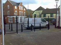 steel fence  New Forest Metal Work