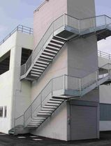 steel fire escape staircase  essegi scale