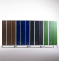 steel locker for public buildings (finish in natural paint) MONOPLUS Dieffebi