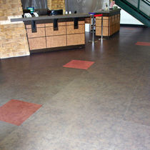 stone look PVC floor tile (FloorScore certified, low VOC emissions) GREY DIAMANTE Halo Floors